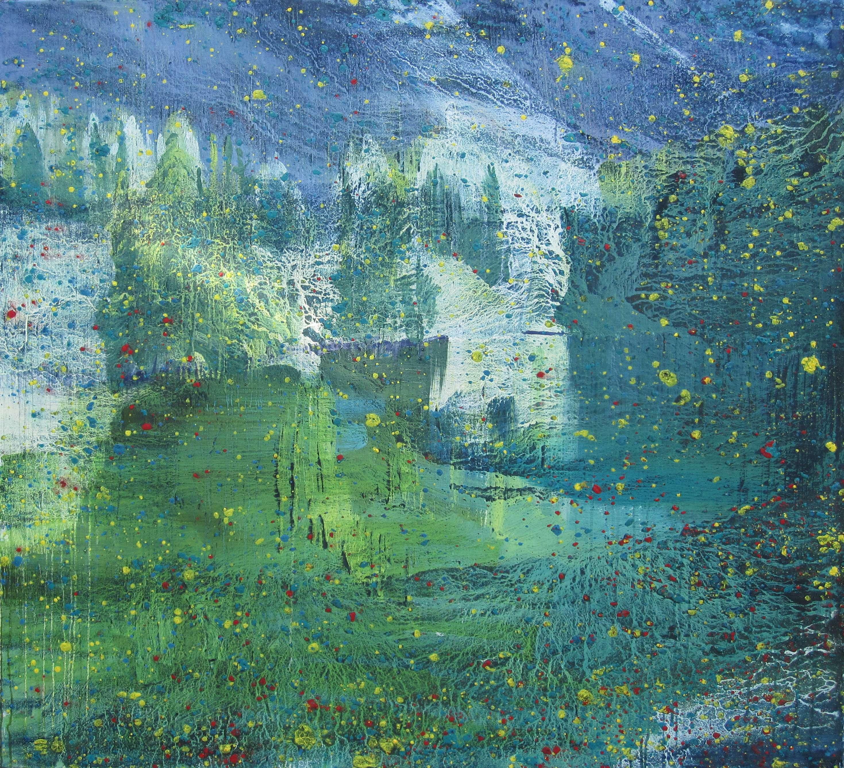 1006rdct_1_Davoser See, 2012, 110x125cm, Tempera und Öl auf Nessel