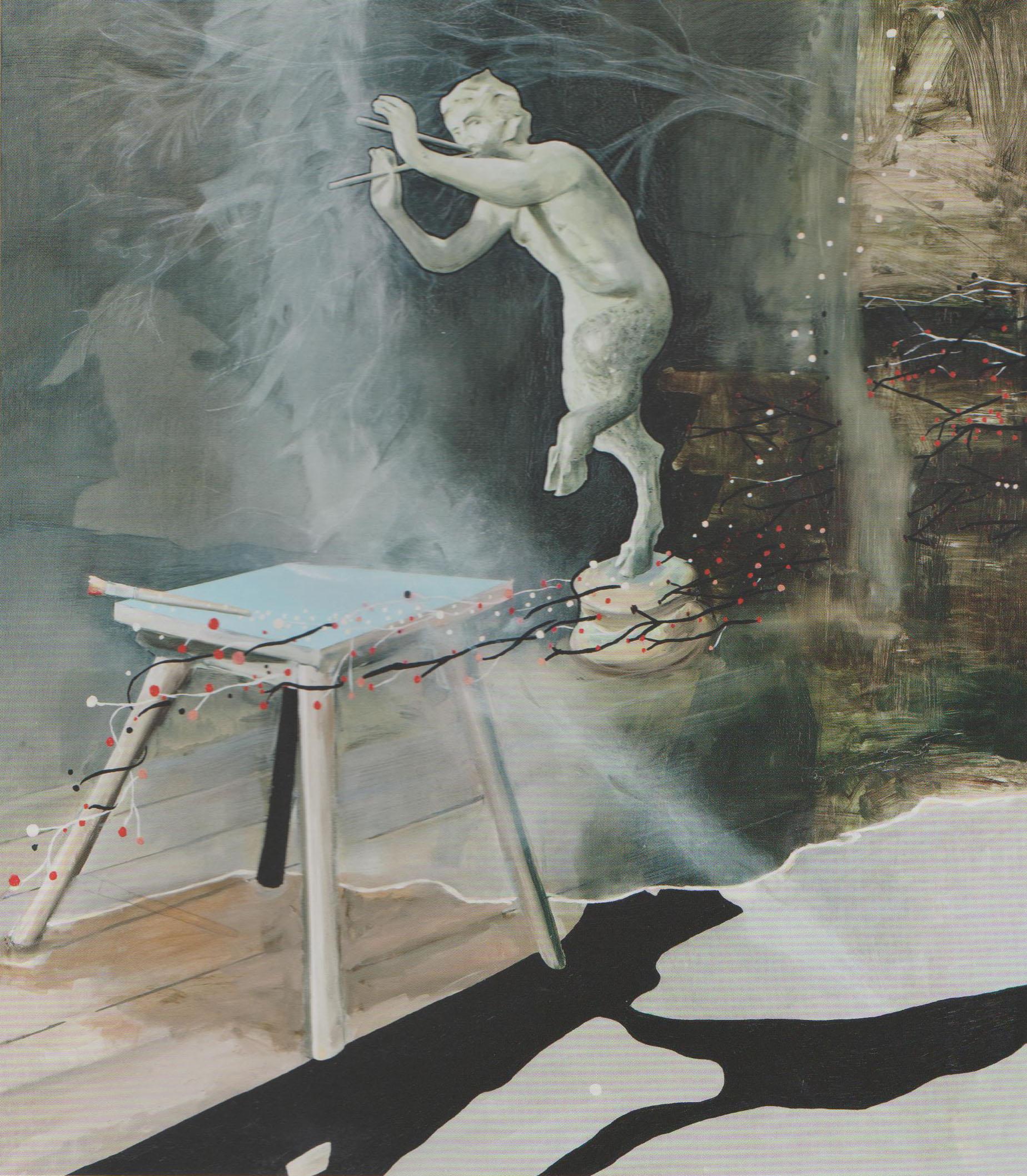 Atelier, ein Übergang, 2008 oil on canvas 155x135cm