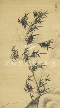 Jung Lee(1554-1626), Pungjuk(풍죽(風竹),Windy bamboo), literati painting, 127.5×71.5cm
