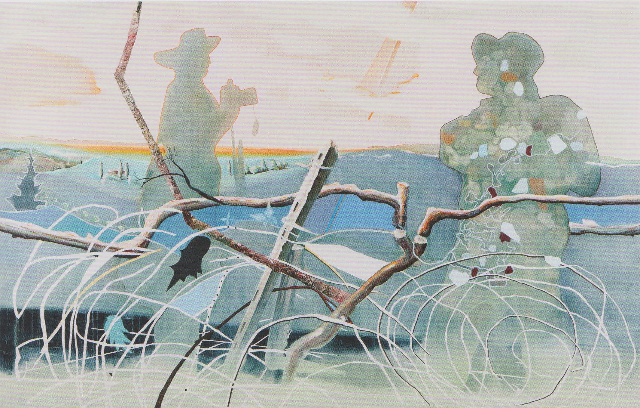 La Visione 2012 oil on canvas 160x250cm