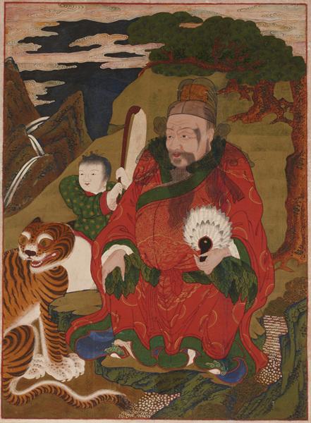 2산신도, 비단에 채색, 109.5x81cm,조선시대