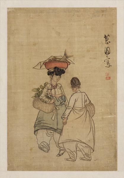 5신윤복_저잣길_비단에 채색_29.7x24.5cm_18_19세기
