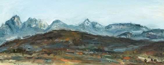 KWUNsuncheol, Distant Mt. Bukhan, 50 X 120 cm, Oil on canvas, 2005