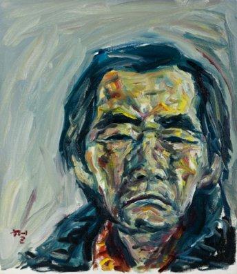 KWUNsuncheol, Me, 나, 53x45cm, Oil on canvas, 2011